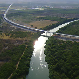 Anzalduas International Bridge and highway